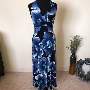 Enfocus Studio Blue Floral Maxi Dress
